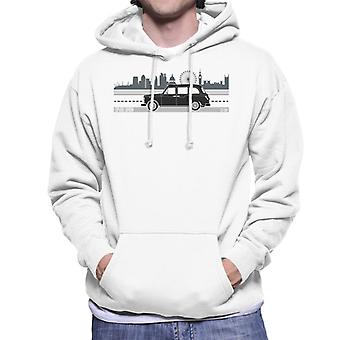 London Taxi Company TX4 Driving Along The City Men's Hooded Sweatshirt