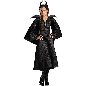 Girl's Maleficent Christening Black Gown Deluxe