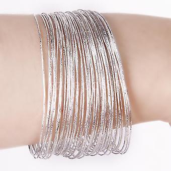 50pcs Bulk Fashion Ultra Thin Hoop Bracelet Cuff Bangle Wristband