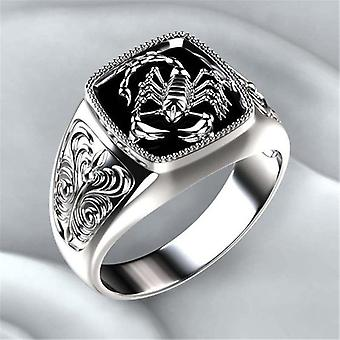 Top-quality Gothic Style Punk Scorpion Male Retro Ring Scorpion Pattern Rings