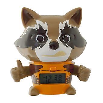 Bulbbotz marvel 2021357 guardians of the galaxy vol.2 rocket raccoon kids night light alarm clock wi