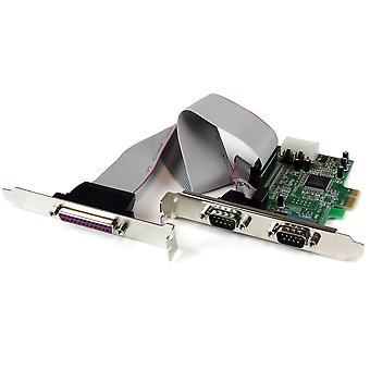 Startech.com 2s1p native pci express parallel serial combo card with 16550 uart - pcie 2x serial 1x