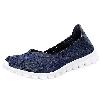 Donne Estate Casual Flats Breathable Femminile Walking Shoes