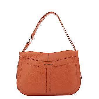 Orciani B02083softmattone Women's Brown Leather Shoulder Bag