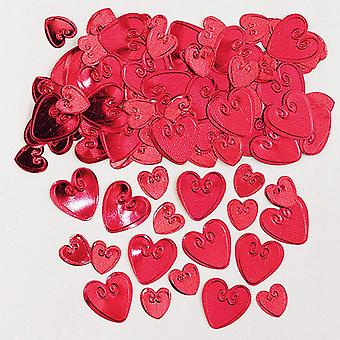 Amscan rakastava sydämet Koho kuvioitu metallinen Confetti