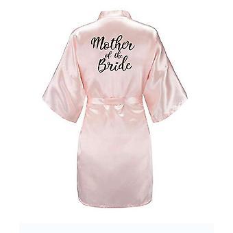 Neue Braut Brautjungfer Robe mit weißen schwarzen Buchstaben Mutter Schwester der Braut