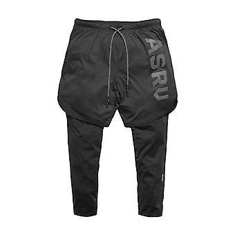 2in1 Menăs Calf-length Gyms Fitness Pantaloni Elastici Strâmți
