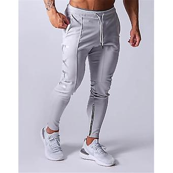 Jogge menn Sport Sweatpants, Løpende Gym Bukser, Bomull Trackpants, Slim Fit