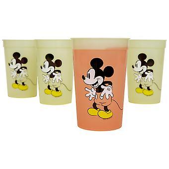 Mikki Hiiri Disney Pose 4-Pack 15oz Värin vaihto Kupit
