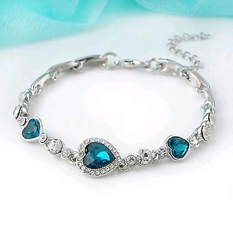 Chaîne de bracelet bleu océan