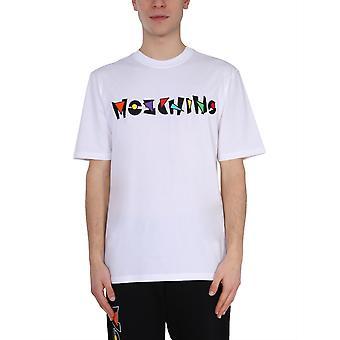 Moschino 071620401001 Heren's White Cotton T-shirt