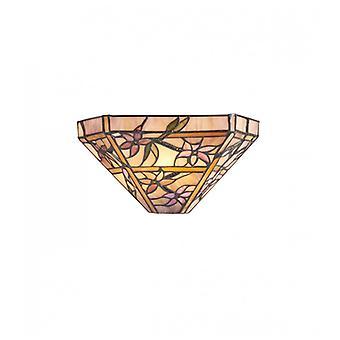 Clematis Wandleuchte, Glas und Metall