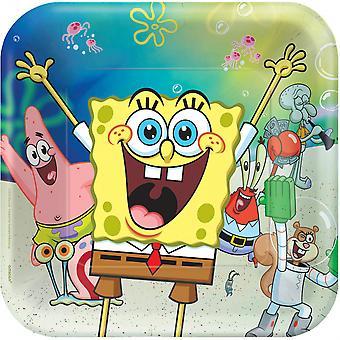 Borden Spongebob Vierkant 23 X 23 Cm Papier 8 Stuks