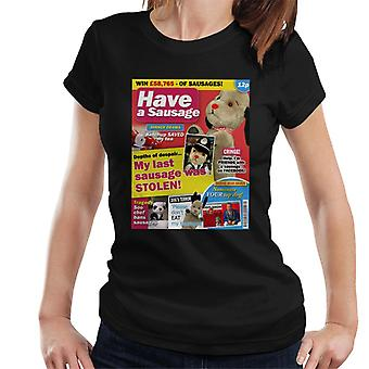 Sooty Sweep Gossip Mag Parody Have A Sausage Women's T-Shirt