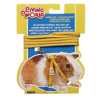 Living World L.W. HARNESS IN YELLOW FOR GUINEA PIGS (Small pets , Leads & Harnesses)