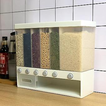Veggmontert korn/frokostblanding/ris Oppbevarings- og dispenserboks