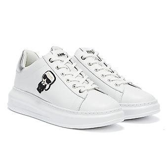 Karl Lagerfeld Ikonic Kapri Lo Lace Womens White / Silver Trainers