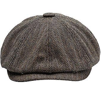 Unisex Autumn Winter Newsboy Caps & Warm Tweed Octagonal For Male Detective