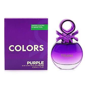 Benetton Colors Purple Eau De Toilette Spray 50ml/1.7oz
