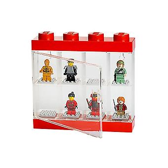 Minifigure Lego Small Display Case - Rosso