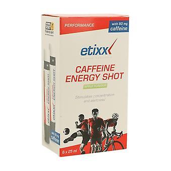 Cafeine Energy Shot 6 units of 25ml (Apple)