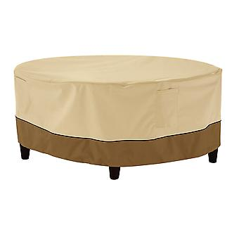 Classic Accessories Veranda Round Patio Ottoman/Coffee Table Cover - Durable And Water Resistant Outdoor Furniture Cover, Small (55-854-021501-00)
