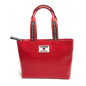 Женская сумка Любовь Moschino Шоппинг Экопелла Красный Bs21mo55 Jc4030