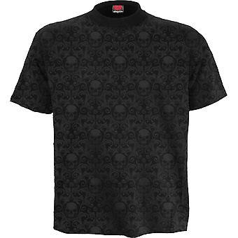 Urban Fashion Scroll Impression T-Shirt