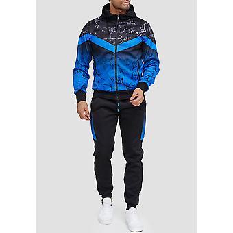 Мужской спортивный костюм Фитнес Беговой костюм Уличная одежда Комплект Спортивная одежда Куртка и брюки