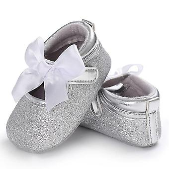 Baby First Walkers Toddler Pu Princess Bow Loving Heart Leather Shoes