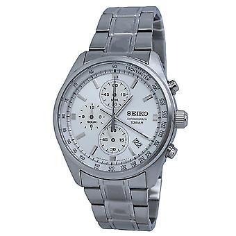 Seiko Chronograph Quartz Silver Dial Men's Watch SSB375