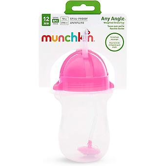 Munchkin vektet Flexi-Straw Cup 10oz rosa x 2 kopper