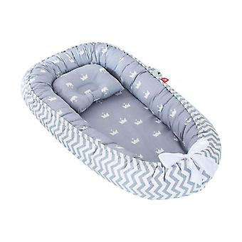 Nido di cialde per bambini, letto da viaggio reversibile per neonati, morbido cuscino per dormire appena nato