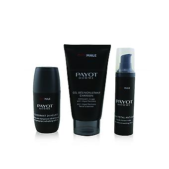 Optimale energising ritual for men set : 1x facial cleanser 150ml + 1x wrinkle smoothing fluid 50ml + 1x 24 hrs roll on 75ml 243212 3pcs