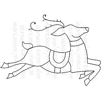 Lindsay Mason Designs Zendoodle Reindeer A6 Clear Stamp