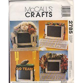 McCalls ompelu kuvio 2785 Koristeellinen tietokone monitori koristeet