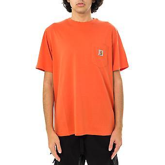 Camiseta para hombre carhartt wip s/s camiseta de bolsillo i022091.0ao