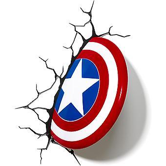 Leucht leucht 816733002187 Wandleuchte Marvel Captain America-Schild von 3D FX, Rot, Wei und Blau