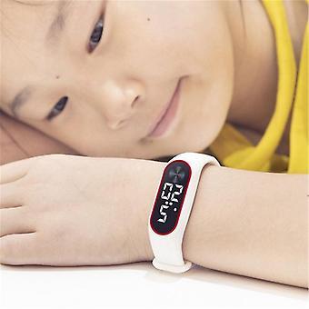 Barn Sport Elektronisk Armbåndsur Ledet Digital Klokke