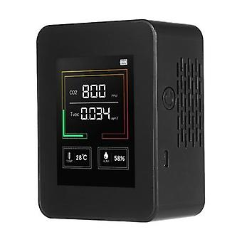 Deal cheapest Air Quality Monitor CO2 TVOC Meter Temperature and Humidity Carbon Dioxide Detector with Alarm Function Tabletop Real-time Air Gas Detector for Home Office Kindergarten School