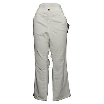 IMAN Global Chic Women's Jeans 22 Petite Illusion Denim White 734928100