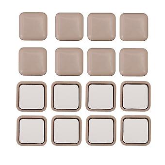 16 x Gray Square Furniture Moving Slider for Sofa Wardrobe Chair 25x25mm