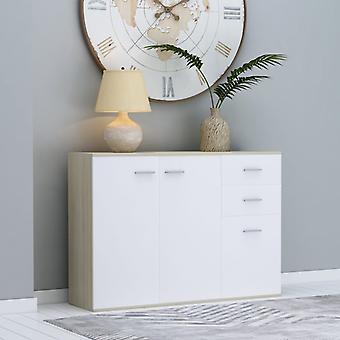 vidaXL Sideboard White Sonoma Oak 105 x 30 x 75 cm Chipboard