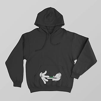 Reality glitch hands rolling hoodie