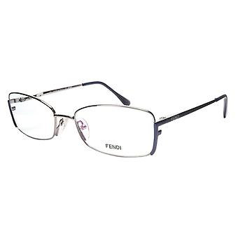 FENDI Eyeglasses Frame F960 (030) Metal Silver Dark Blue Italy Made 52-16-135 30