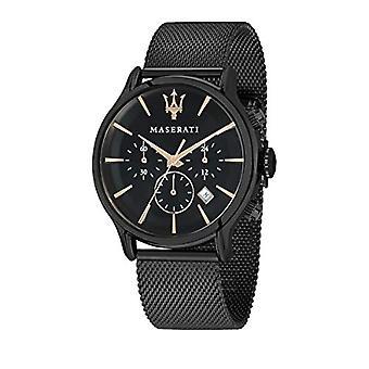 Men's watch, Epoca Collection, quartz movement, chronograph, steel and black PVD - R8873618006