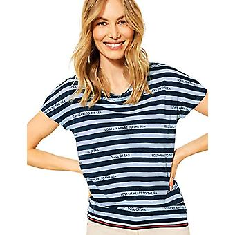 Cecil 316064 T-Shirt, Light Blue Melange, L Woman
