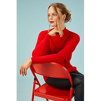 Loop Cashmere Turtle Neck Sweater In Rouge