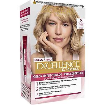 Permanent Dye Excellence L'Oreal Make Up Light Blonde Nº 8