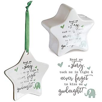 Detto con sentimento Star Shaped Money Box & Hanging Star Decoration - Never Forget